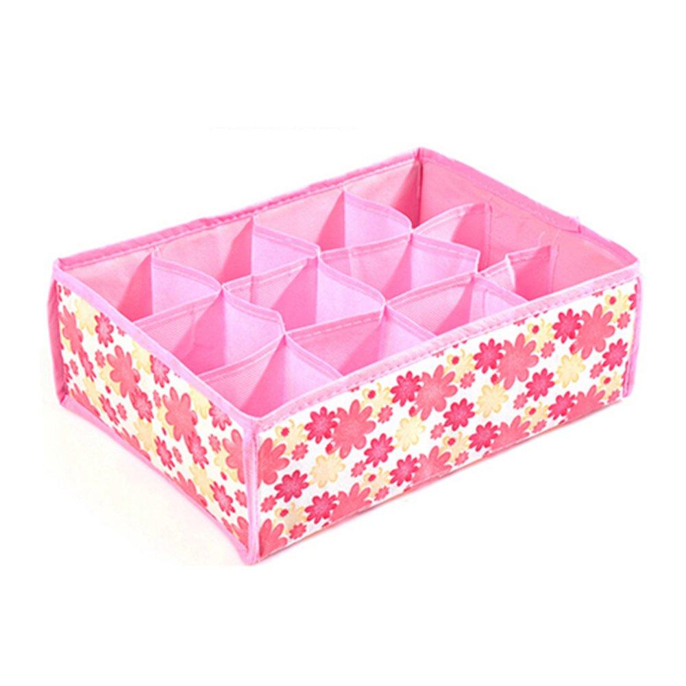 Bluelans® Socks Underwear Ties Drawer Closet Home Organizer Storage Box Case 12 Cells (Random Colour)