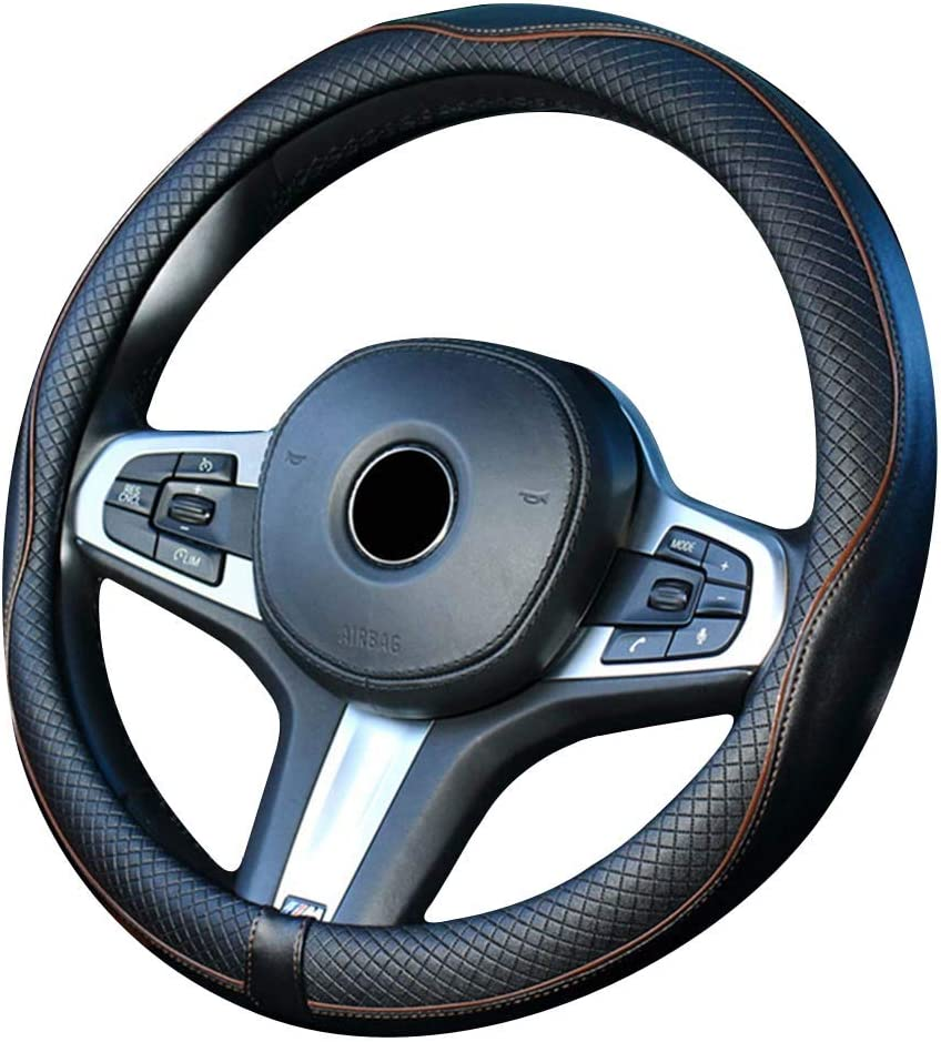Xihaoer Cute Genuine Leather Steering Wheel Cover Green