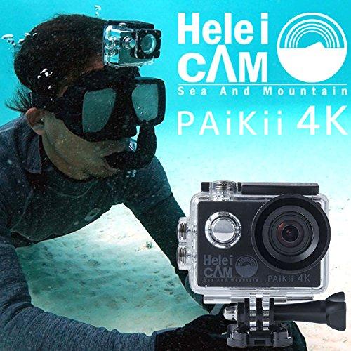 アクションカメラ HeleiCAM PAiKii 4K(パイキー) HeleiWaho発の ウェアラブル アクションカム シュノーケル サーフィン ダイビング などで楽しめる30m 防水| 水中カメラ ヘレイワホ アクション カメラ camera カム スノーケル シュノーケリング スノーケリング アウトドア B01JZLIDVM