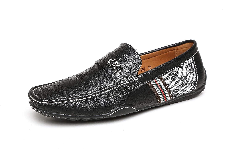 Hombre Negro Marrón GG Diseñador Sin Cordones Casual Verano Mocasines Conducción Moda zapatos núm. RU: Amazon.es: Zapatos y complementos