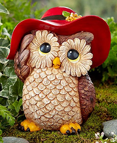 Whimsical owl garden statue garden sculptures statues for Whimsical garden statues