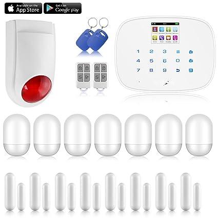 KERUI – G19 pantalla LCD de seguridad inalámbrica GSM Autodial SMS Call Home casa sistema de