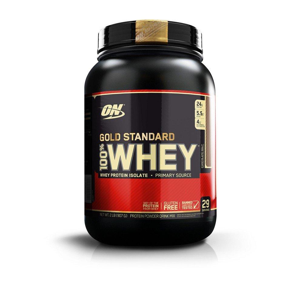 Optimum Nutrition Gold Standard 100% Whey Protein Powder, Chocolate Malt, 2 Pound