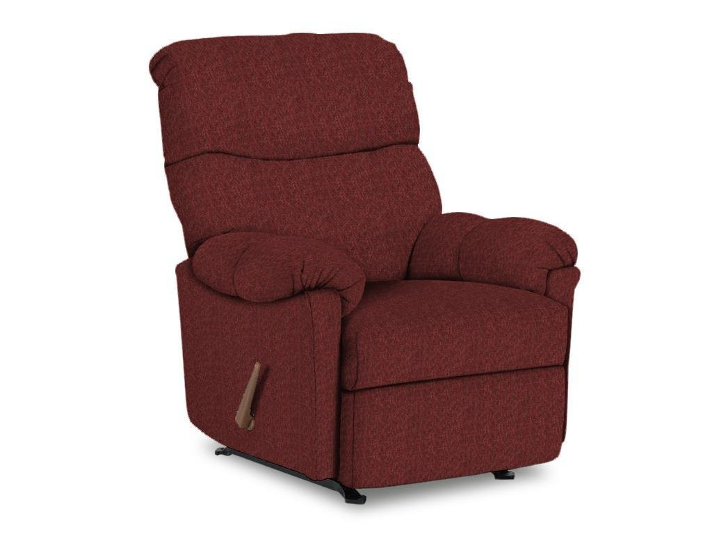 Best Home Furnishings Balmore Collection 2NW64-19648 Space Saver Recliner with Pillow Top Arms in Ruby Fabric