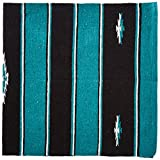 Tough 1 Wool Sierra Saddle Blanket, Teal/Black