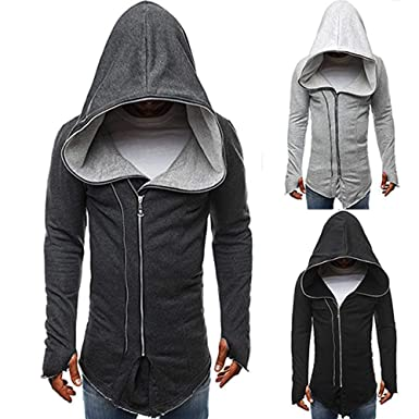 4713f49667 Usstore 🧥 Mens Autumn Winter Casual Zipper Long Sleeve Assassin s Creed  Pullover Sweatshirt Hoodie Coat Top