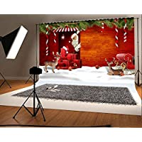 Photography Background Vinyl 9x6ft Christmas Theme Snow Scene Santa Claus Pattern Backdrop Studio Props Merry Christmas