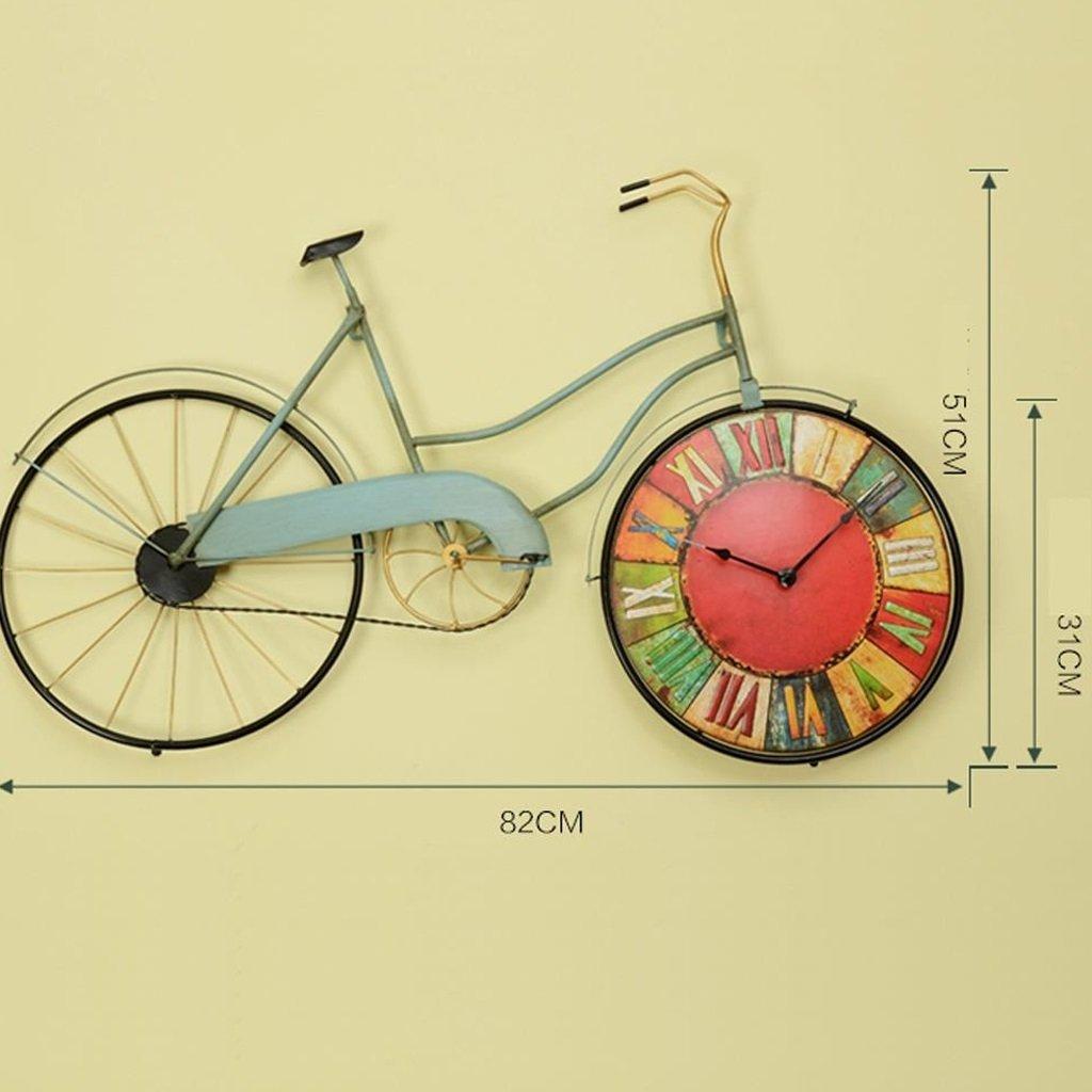 レトロスタイルのリビングルームクリエイティブ自転車の壁時計、壁の装飾錬鉄のパーソナライズされた腕時計の壁の装飾 ( 設計 : B ) B07BVTMHST B B
