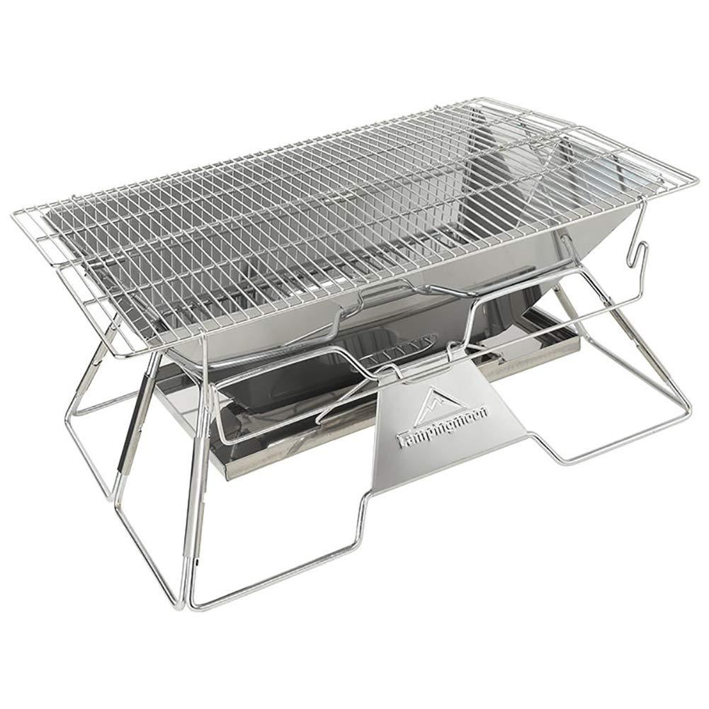 Houtdo Barbacoa de carbón Plegable Usos para BBQ Picnic Camping Al Aire Libre 19.3inX13.4inX10.2in