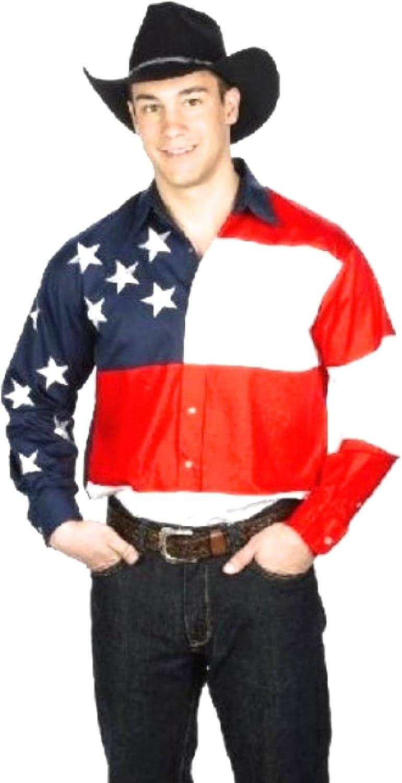 Western Camisa Americaine Patriot Brode Cowboy Country ...