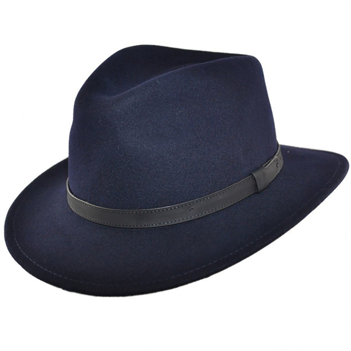 MAZ Navy Crushable Fedora Hat