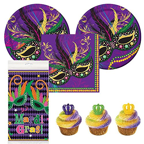 Mardi Masks party supplies guests