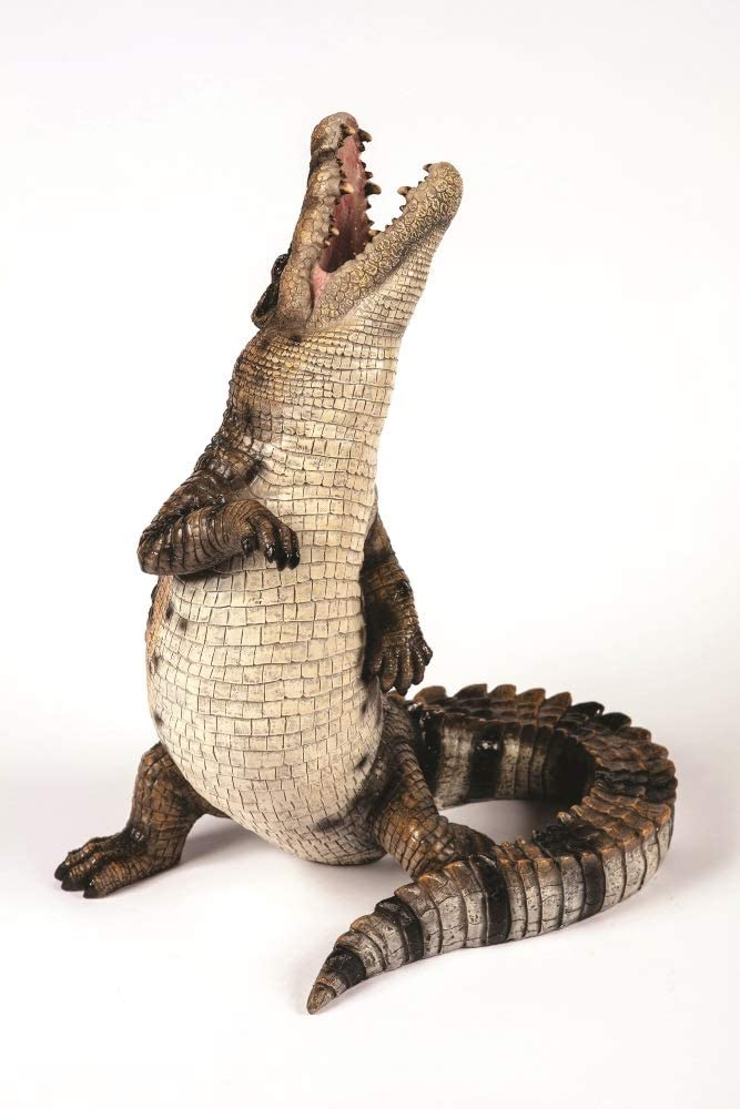 Outdoor Garden Patio Resin Life Like Standing Crocodile Statue Figurine Ornament From Garden Creations 44cm H Amazon Co Uk Kitchen Home