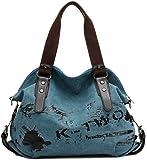 VADOOLL® Fashion Damen Mädchen Casual Canvas Umhängetasche Handtasche Schultertasche Tote ideal für Büro Freizeit Einkaufen Outdoor 40 x 15 x 30cm
