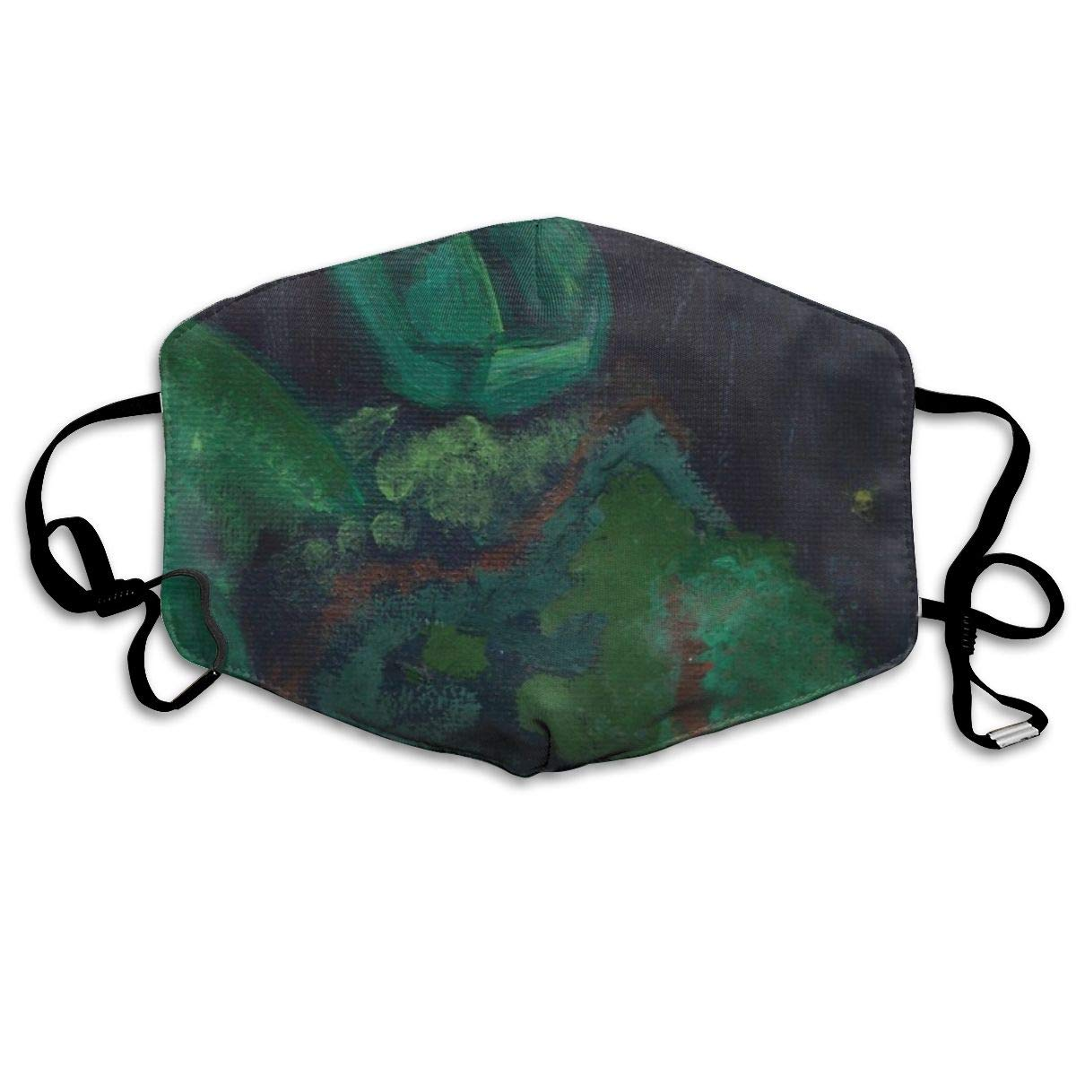 Attwood Wheat Adjustable Half Face Mouth Masks World Turtle Painting-01 Masks for Flu Unisex Masks for Germ Protection