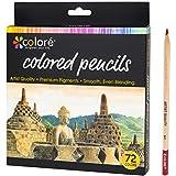 Colore Colored Pencils 72 Premium Pre-Sharpened Color Pencil Set Deal