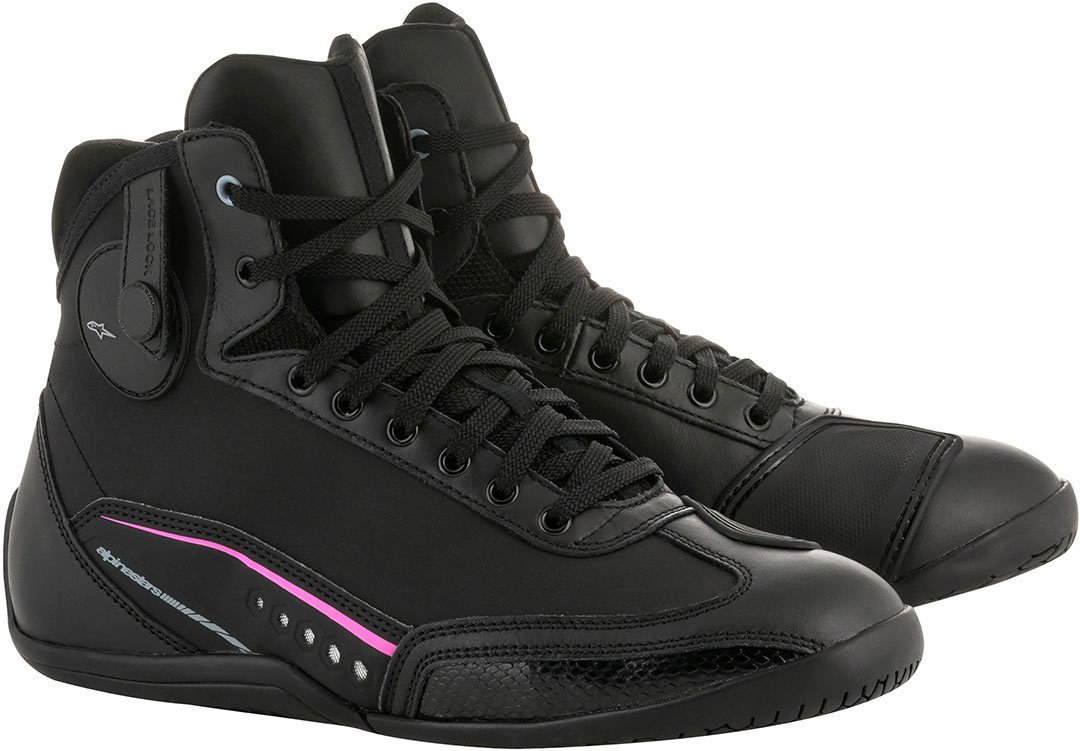 7.5=39 Alpinestars Damen Schuhe Stella AST-1 DryStar BLACK FUCHSIA