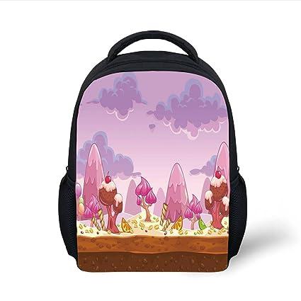 Amazon.com  iPrint Kids School Backpack Girls Room Decor 718b0dc8e3fde