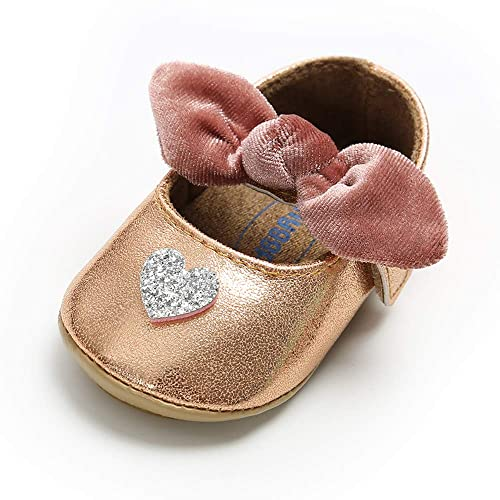 5410feebdc98 Amazon.com | SOFMUO Baby Girls Sparkly Mary Jane Flats with Bowknot ...