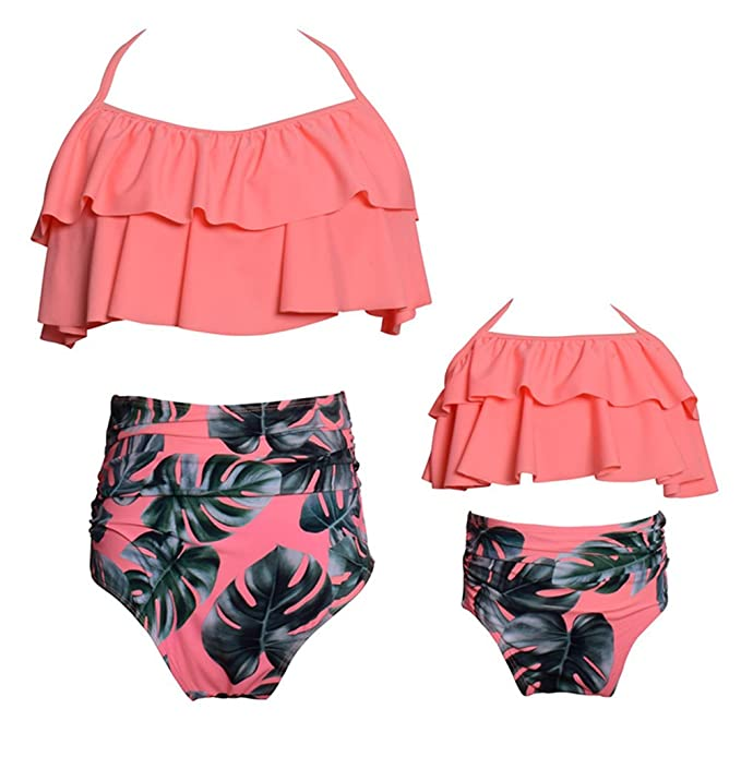 Dilicwa Madre e Hija Bikinis Traje de baño Padre-Hijo Bikini Traje de Baño, Mamá bebé Bañadores de Mujer de Verano Playa.
