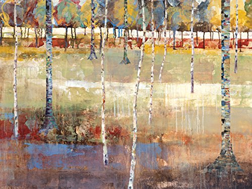 Portfolio Canvas Decor 30 by 40-Inch Printed Wall Art Painting, Large, Birch Forest by Michael - Landscapes Longo Art