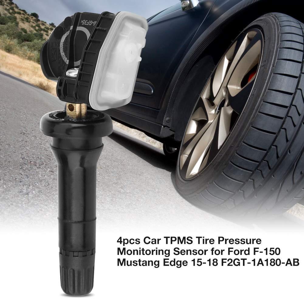 Tire Pressure Sensor-4pcs Car TPMS Tire Pressure Monitoring Sensor for Ford F-150 Mustang Edge 15-18 F2GT-1A180-AB