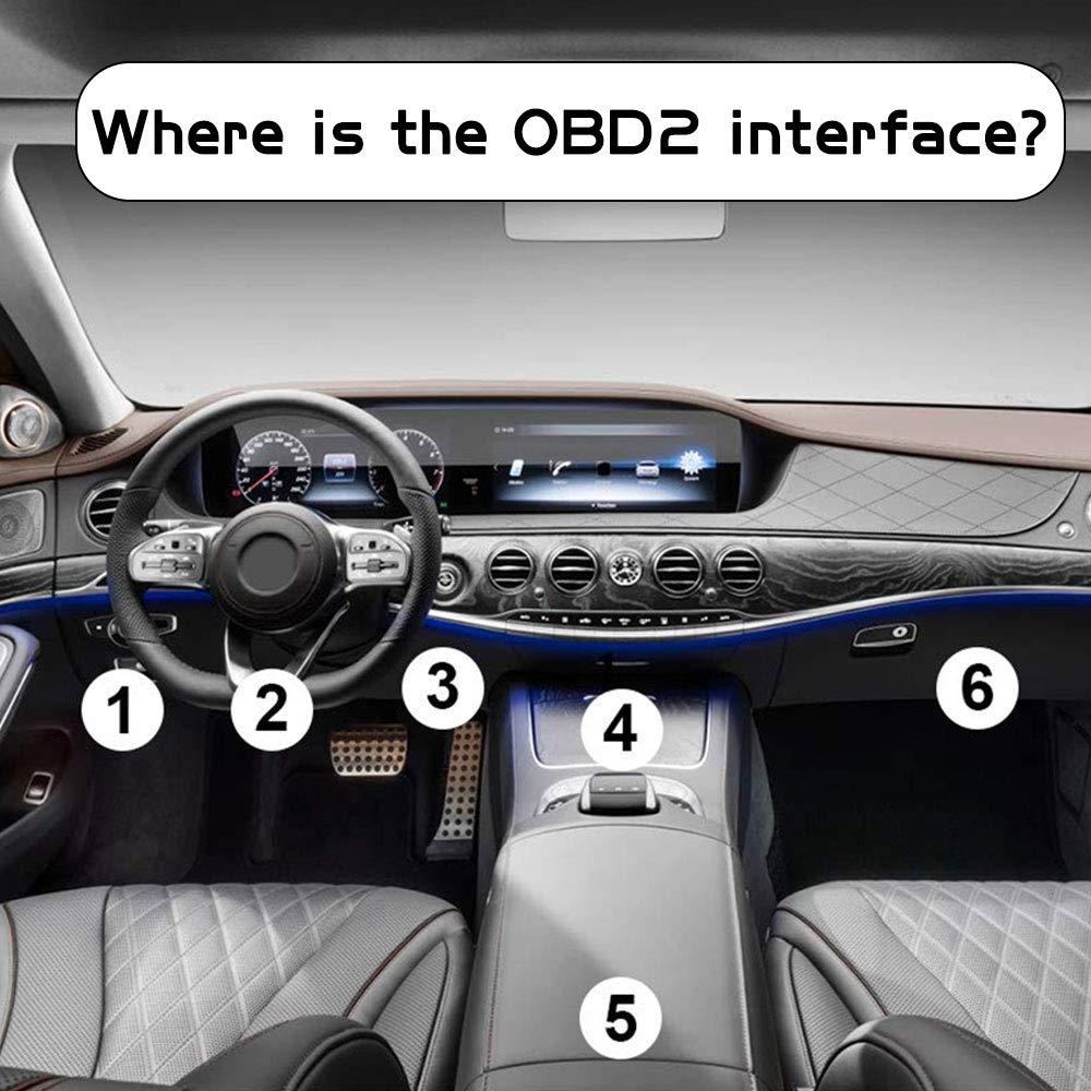 OBD2 Bluetooth Adapter Diagnoseger/ät Motorkontrollleuchte Diagnoseger/ät f/ür IOS Android Windows Smartphone Tablet OTUAYAUTO OBDII Diagnose Scanner ELM327 Interface Universal Auto-Scanner Code Leser