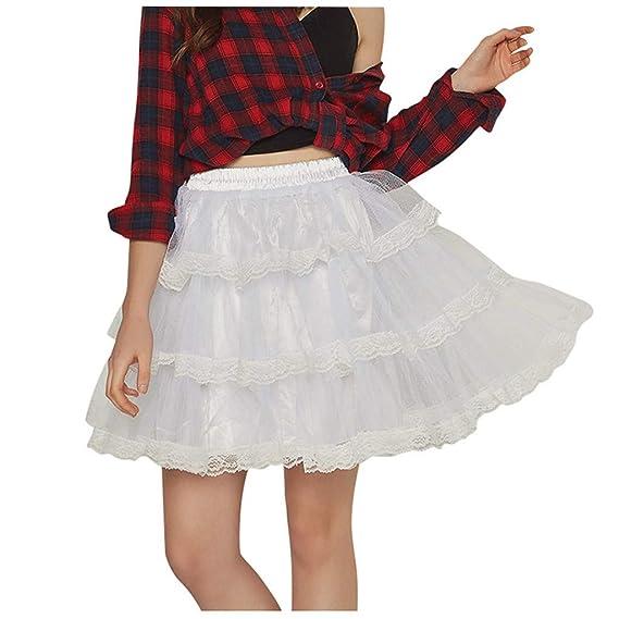 Lenfesh Negro Blanco Moda para Mujer Estilo Princesa Cintura Alta ...