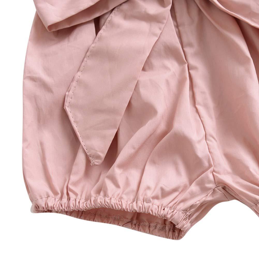 EEFRVDFFDE Girls Summer Cotton Bow Wood Ear Bread Bloomers Floral Plaid Print Shorts