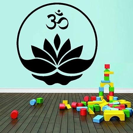 GUUTOP Yoga Buddha Om Lotus Meditation Decal Vinyl Wall ...