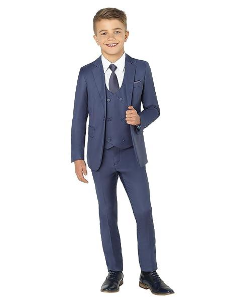 Paisley of London - Traje de boda para niño, ultradelgado, para 1 - 14 años de edad - 6 Años - azul marino