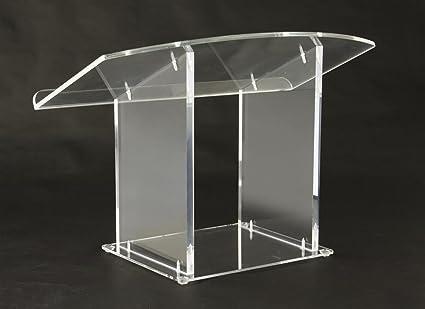Displays2go acrílico púlpito de mesa Atril claro plexiglás podio ...