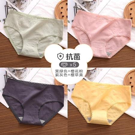 balalSY Ropa Interior de Mujer 100% algodón Antibacterial Entrepierna Bragas Transpirables de Encaje de Mujer Chicas japonesas sin Calzoncillos-L_Grupo D: Amazon.es: Hogar