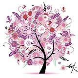 DIY Embroidery Kits Cross Stitch Kit Handmade Needlework Home Decor Colorful Tree Autumns Season