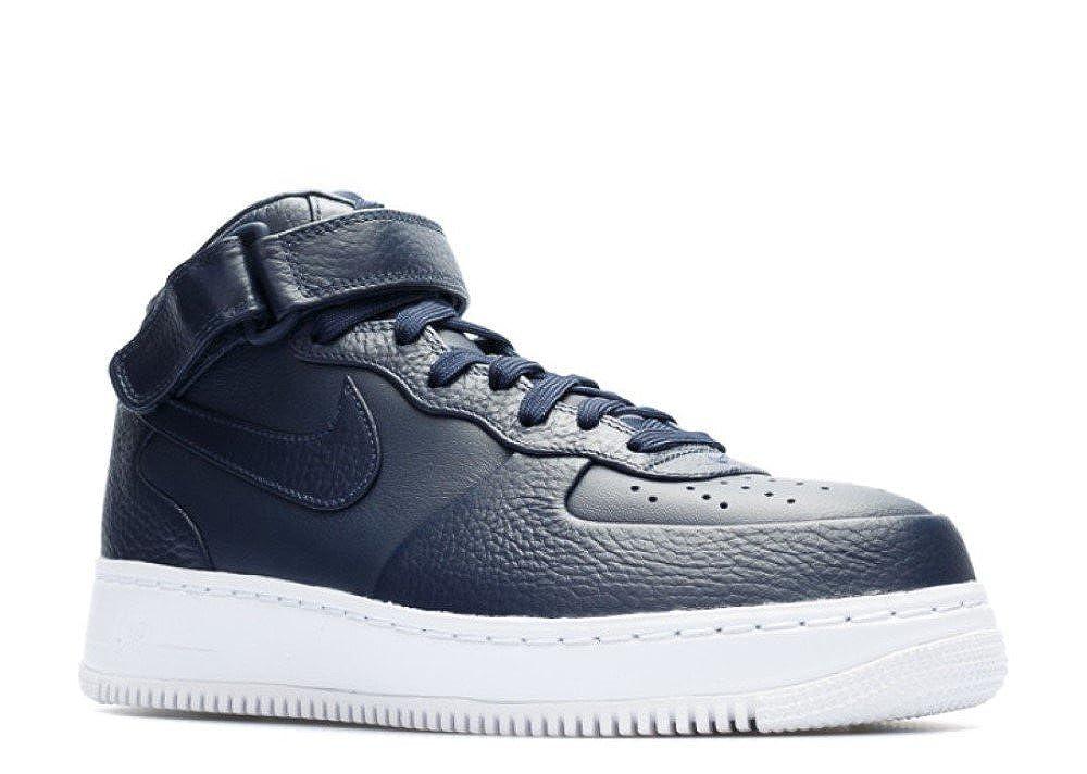 Nike NikeLab Air Force 1 Mid, Hauszapatos de Bañoncesto para Hombre negro   blanco (Obsidian   Obsidian-blanco)