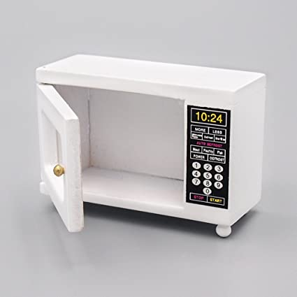 Amazon.com: Odoria 1:12 Miniature White Microwave Oven ...
