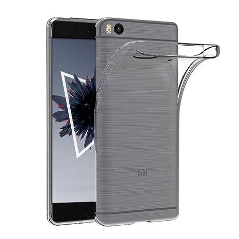 Anfire Funda Xiaomi Mi 5S Suave Gel Transparente Carcasa Claro Silicona TPU Case Ultra Ligero Flexible Cover Anti Rasguños Anti-Gota Anti Choque Soft ...