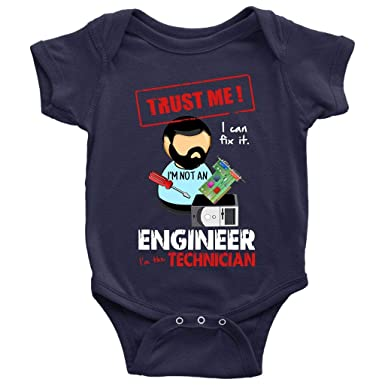 a3afaeeb95850 Amazon.com: I'm The Technician Baby Bodysuit, I'm Not An Engineer ...