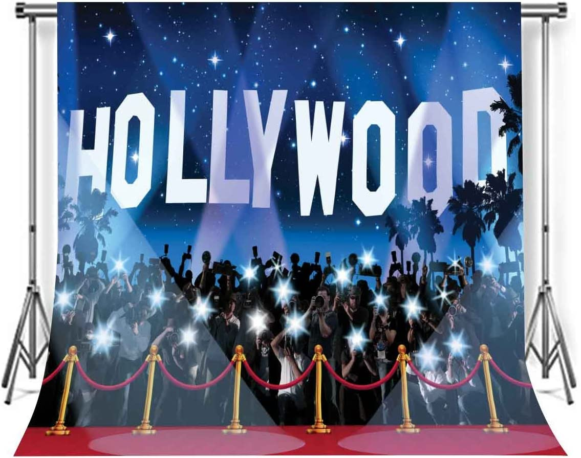 LYLYCTY 10 x 10 ft Polyester Hollywood Photography Backdrops Photo Studio Props Red Carpet Background Room Mural LYGE700