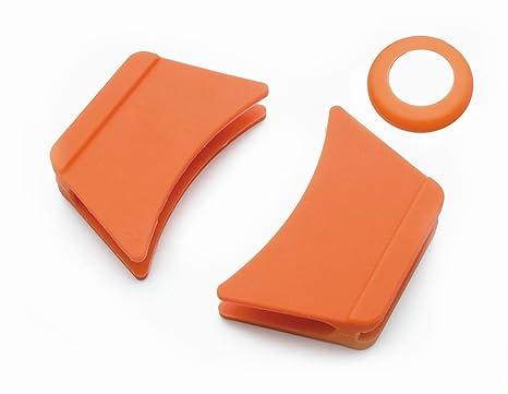 Lacor - R25921C - Pack De 3 protectores De Silicona Para Cacerola Redonda- Naranja