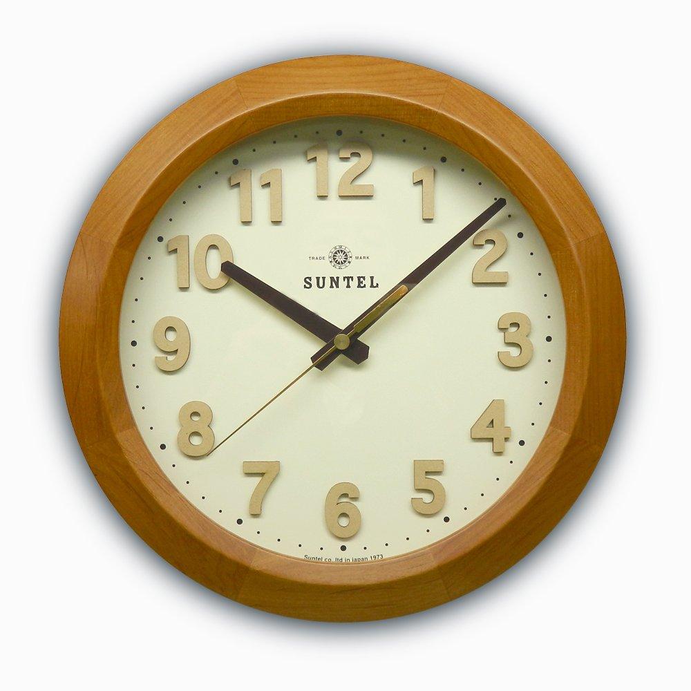 日本製 さんてる インテリア電波掛け時計 DQL678LBR B01N9DCLQF