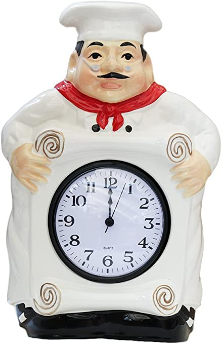 Amazon Com Ack Fat Chef Kitchen Wall Clock Decoration Home