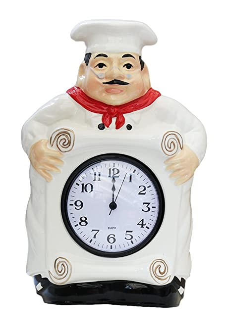 Admirable Fat Chef Kitchen Wall Clock Decoration Home Interior And Landscaping Transignezvosmurscom