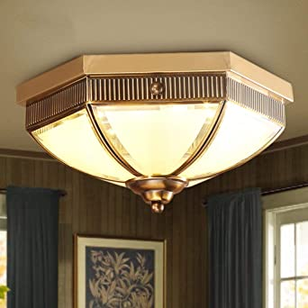 Full-Kupfer Lampen Wohnzimmer Wohnzimmer Schlafzimmer Lampe ...