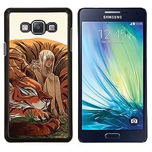 Eason Shop / Premium SLIM PC / Aliminium Casa Carcasa Funda Case Bandera Cover - Tigre lindo Pintura Fairytale Naturaleza - For Samsung Galaxy A7 ( A7000 )
