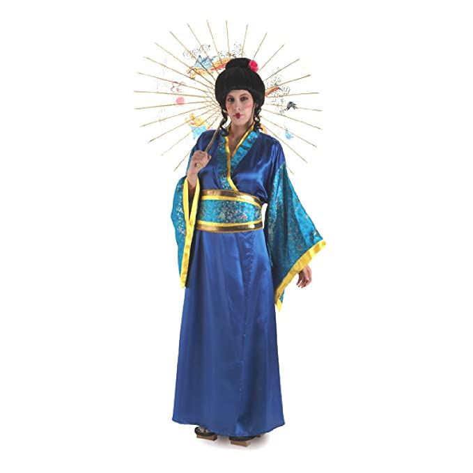 Disfraz de Gheisa azul para mujer: Amazon.es: Juguetes y juegos