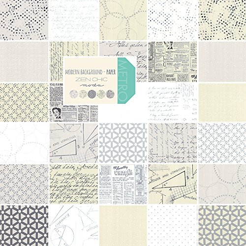 "UPC 752106213432, Modern Background Paper Layer Cake, 42 - 10"" Precut Fabric Quilt Squares By Zen Chic for Moda"
