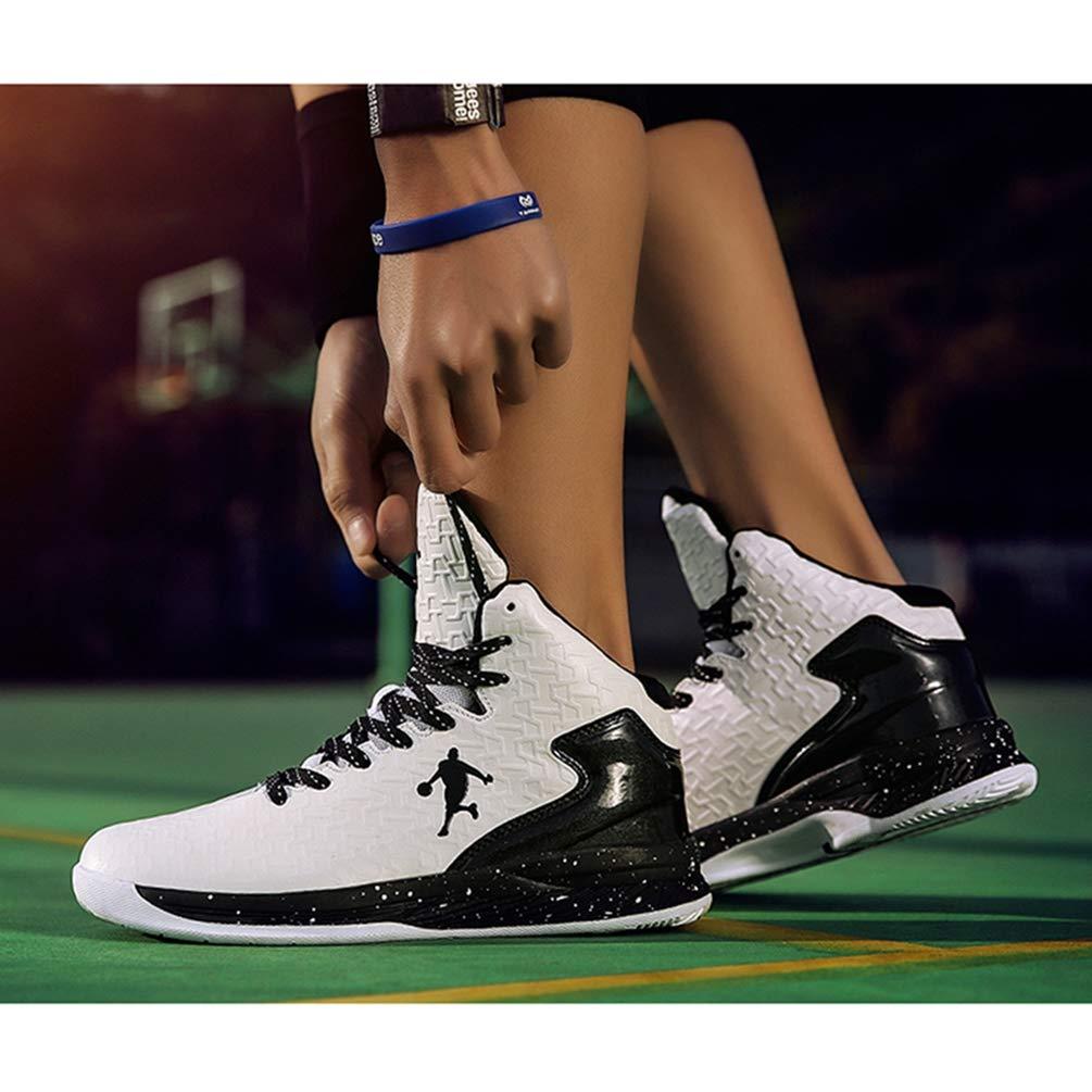 Männer Basketball Schuhe FrauenSport Trainer KnöchelStiefel Gepolfedert Gepolfedert KnöchelStiefel Anti-Rutsch-Korb Unisex-Turnschuhe ae5a64