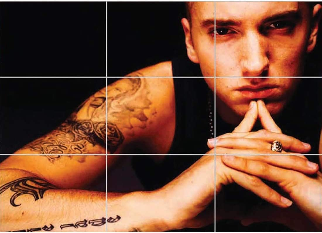 Doppelganger33 LTD Eminem Hip Hop Rapper Slim Shady Wall Art Multi Panel Poster Print 50x35 inches