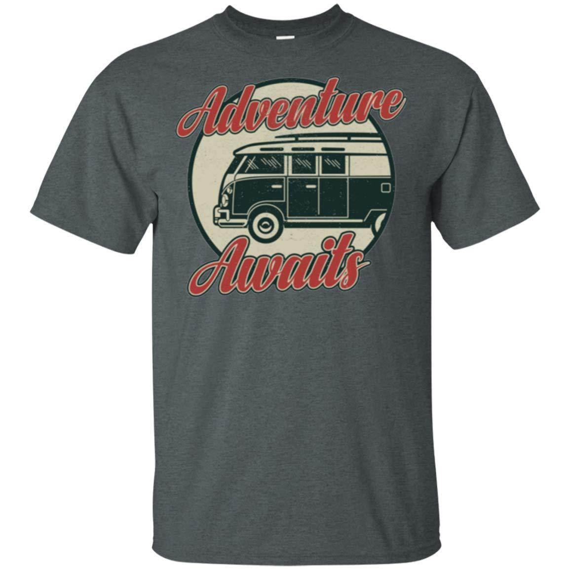 VW Bus Adventure Awaits Split Window Volkswagen T-Shirt